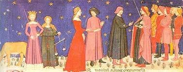 Appunti che presentano la descrizione dei principali personaggi della Divina Commedia