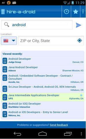 App per trovare lavoro - Hiredroid