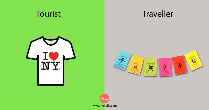 Il turista compra la solita t-shirt