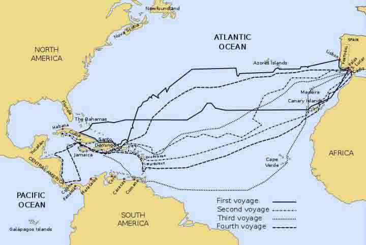 scoperta dell'America da parte di Cristoforo Colombo