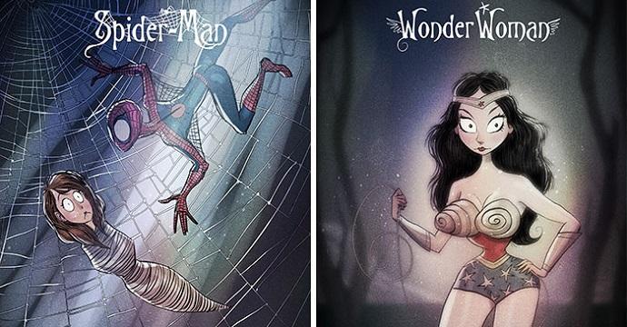 supereroi disegnati da Tim Burton