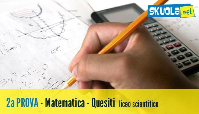 Seconda prova di Maturità 2016 per il liceo scientifico sui quesiti di matematica