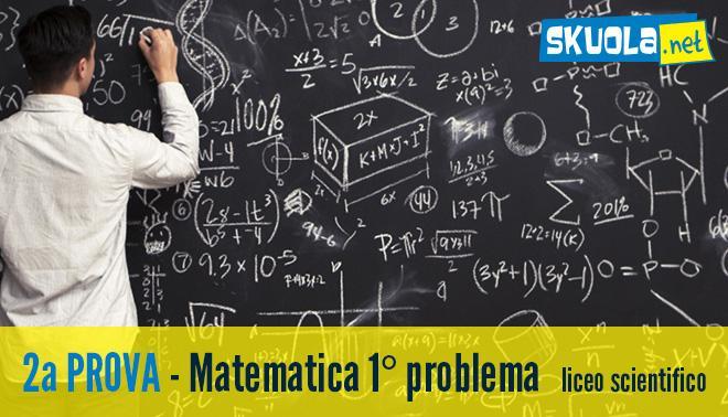 traccia del primo problema di Matematica
