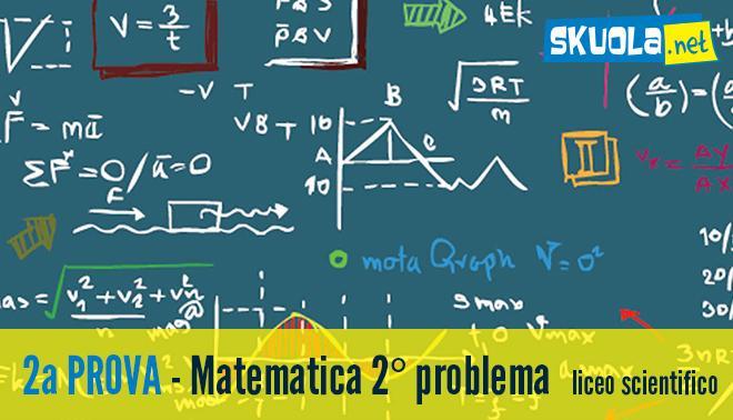 seconda prova Maturità 2016 sul secondo problema di Matematica