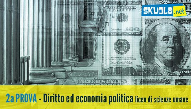 Seconda prova di Maturità 2016 di diritto ed economia politica