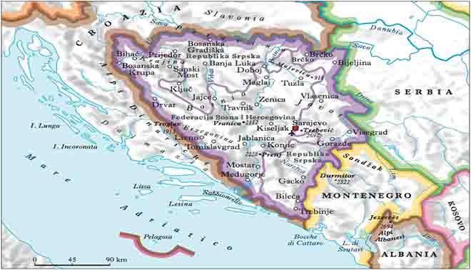 la Bosnia Erzegovina
