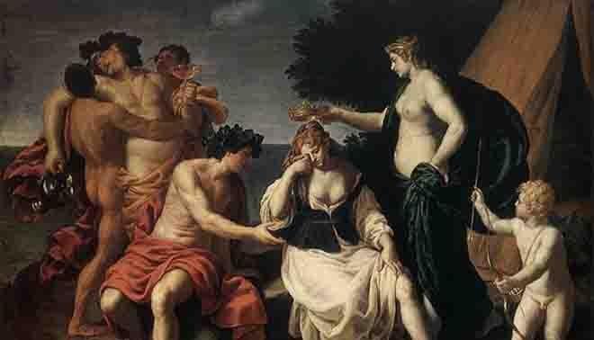 descrizione del mito di Dionisio, detto anche mito di Bacco e Arianna