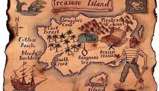 isola del tesoro di Robert Louis Stevenson
