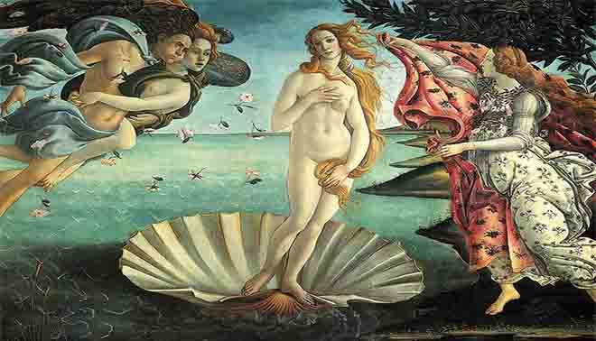 nascita della Venere di Sandro Botticelli