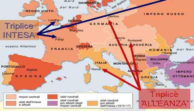 La Prima Guerra Mondiale Cartina.Primo Guerra Mondiale Cause Evoluzione Conseguenze E Trattati Di Pace