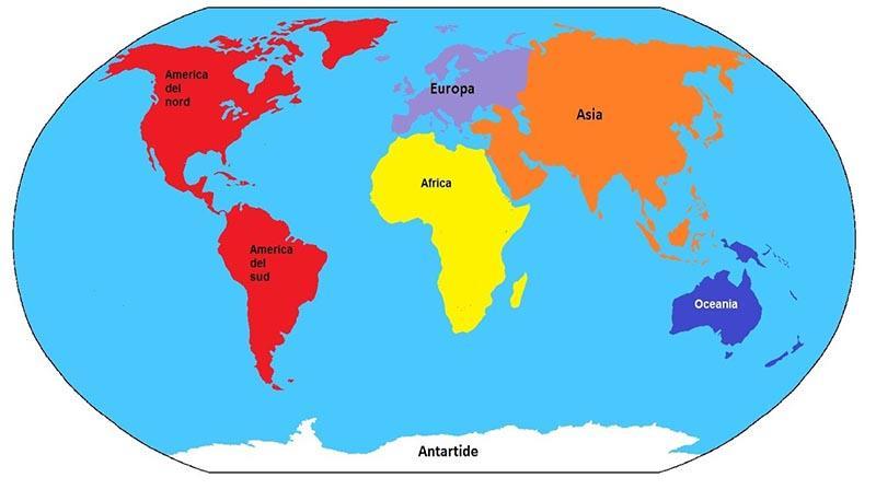 Europa Asia Cartina.Continenti Quali Sono