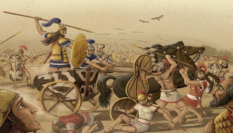 il duello tra Paride e Menelao nel libro III