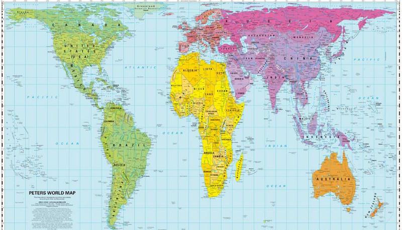Cartina Degli Stati Del Mondo.Peters Vs Mercatore Qual E La Vera Carta Geografica