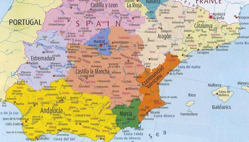 Spagna Territorio Ambiente Economia Tradizioni E Citta