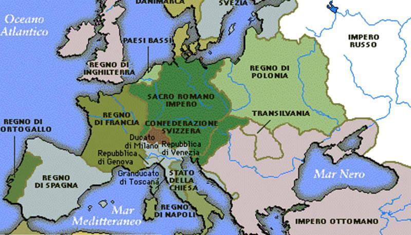Cartina Europa 1700.Francia E Inghilterra Dal 1500 Al 1700