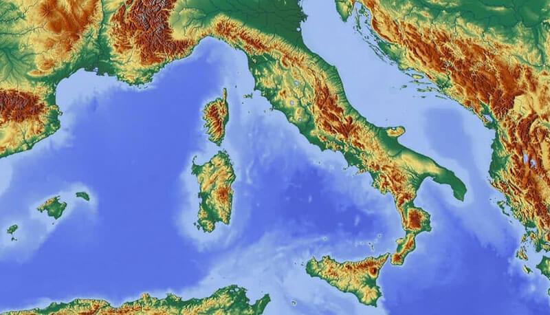 Cartina Dell Italia Fisica.Italia Fisica Descrizione Della Penisola Italiana Territorio Politica Economia