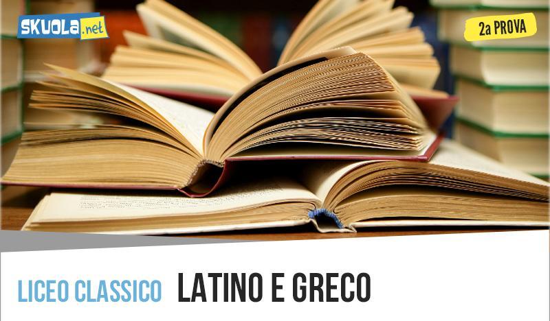 Latino e Greco seconda prova 2019: traccia maturità