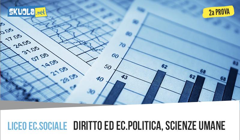 Scienze Umane traccia maturità seconda prova Economico Sociale