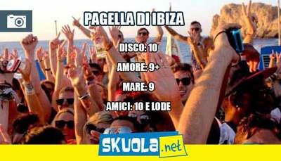 Vacanza ad Ibiza: la pagella di Skuola.net