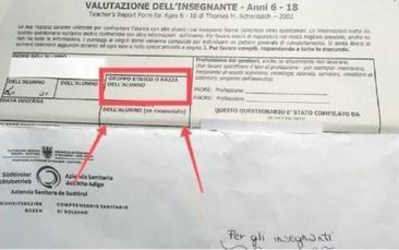 """Bolzano, chiesta la """"razza"""" dello studente per un errore di traduzione"""