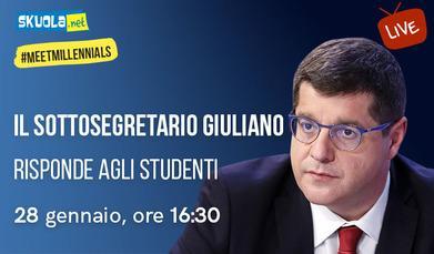 Alternanza, scuola del futuro e ITS: il sottosegretario Giuliano risponde agli studenti!