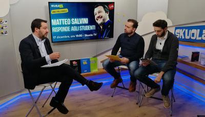 """Salvini a Skuola.net: Occupazioni? """"L'importante è non fare danni"""""""