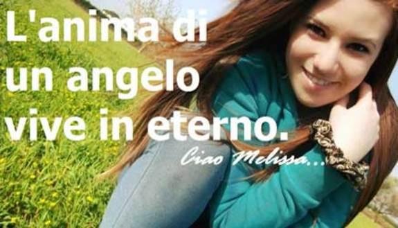 Ciao Melissa, l'anima di un angelo vive in eterno