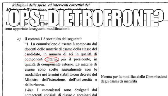 Commissari esterni Maturità 2015: dietro-front?