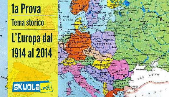 Traccia e soluzione tema storico Europa del 1914 e Europa del 2014