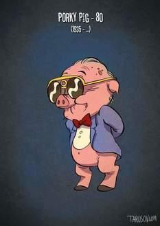 Se i personaggi dei cartoni animati invecchiassero sarebbero così!