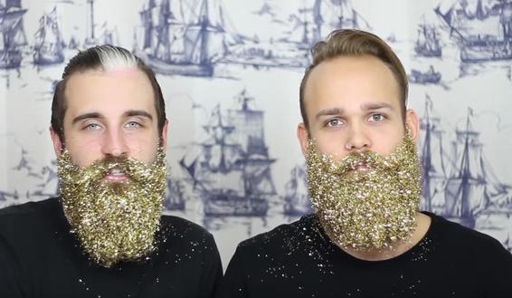 Moda di Natale: la barba glitterata è già tendenza
