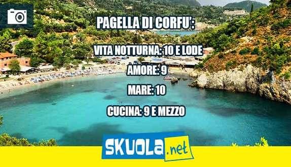 Vacanza a Corfù: la pagella di Skuola.net