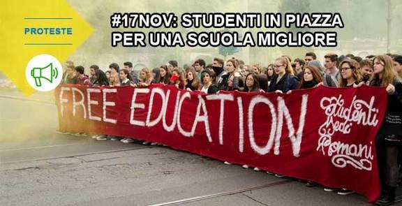 #17Nov: in piazza per una scuola migliore