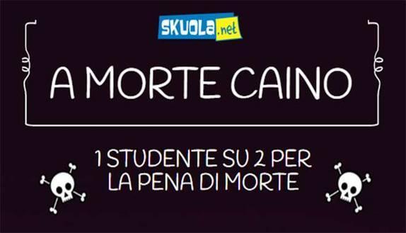 A morte Caino: 1 studente su 2 per la pena di morte