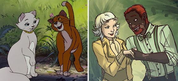 I principali animali della Disney trasformati in esseri umani!