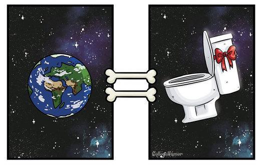 Come i cani vedono il mondo in 7 illustrazioni divertenti