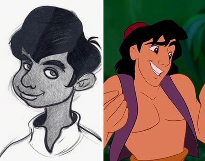 Svelati i disegni originali che hanno ispirato i personaggi Disney!