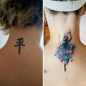 Tatuaggi vecchi e modificati in maniera creativa!