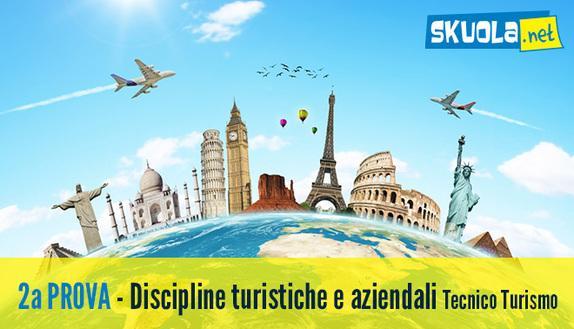 Tracce seconda prova 2016 Turismo: Discipline turistiche e aziendali