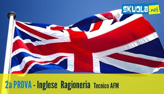 Tracce seconda prova 2016 Ragioneria - Tecnico AFM: Lingua Inglese