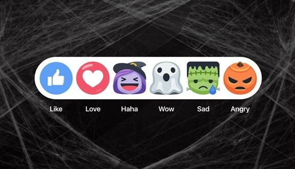 Halloween: tutti pazzi per le nuove reaction Facebook