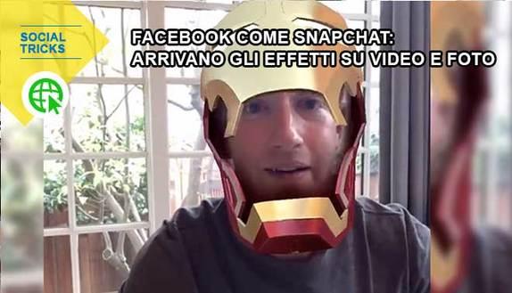 Facebook come Snapchat ti cambierà la faccia