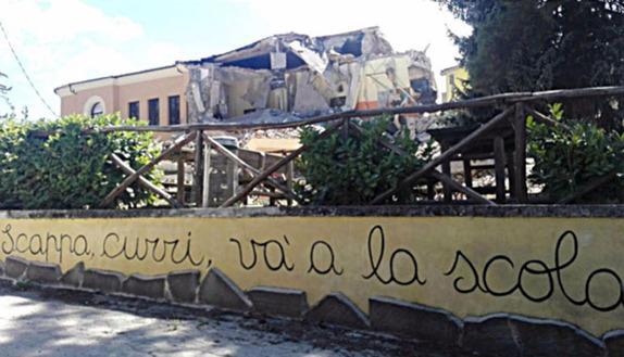 Amatrice, crolla un altro pezzo della scuola ristrutturata