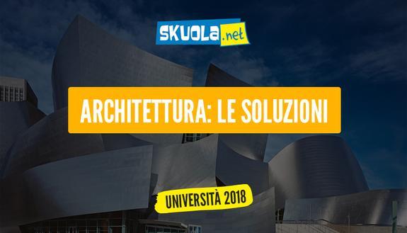 Soluzioni test ingresso Architettura 2017