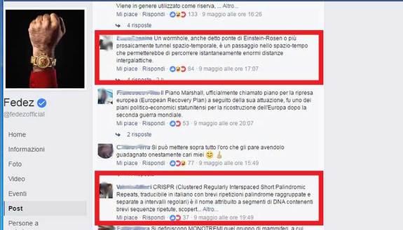 Gli strani commenti apparsi sui post di Fedez e Chiara Ferragni
