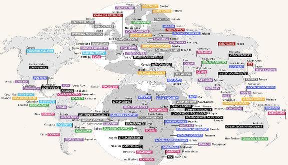 Il meglio e il peggio di ogni paese del mondo in una mappa