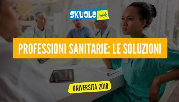 Test professioni sanitarie 2017 quiz e soluzioni