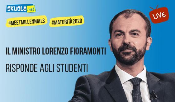 Maturità, ambiente, futuro: il ministro dell'Istruzione Fioramonti 'incontra' gli studenti su Skuola.net