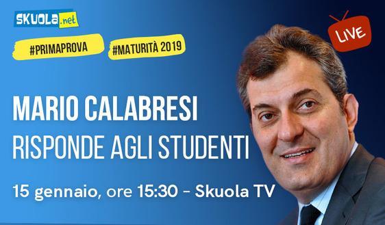 Maturità 2019: i consigli di Mario Calabresi ospite della Skuola Tv!
