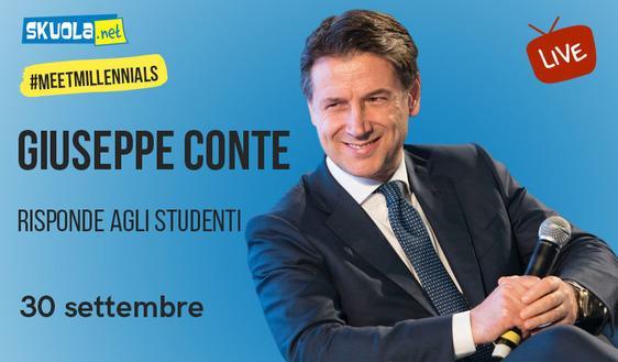 #MeetMillennials: il premier Conte risponde agli studenti in diretta streaming su Skuola.net